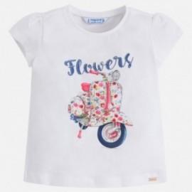 Mayoral 3026-86 Koszulka dziewczęca kolor biały