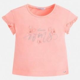 Mayoral 3036-49 Koszulka dziewczęca kolor brzoskwinia