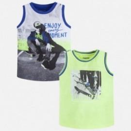 Mayoral 3099-32 Komplet chłopięcy 2 koszulki kolor lemoniada