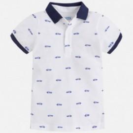 Mayoral 3130-55 Koszulka polo chłopięca nadruk kolor biały