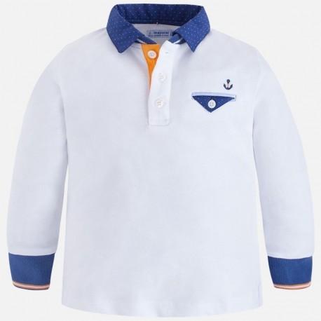 Mayoral 3184-74 Koszulka chłopięca polo kolor biały
