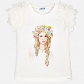 Mayoral 6006-83 Koszulka dziewczęca kolor woda