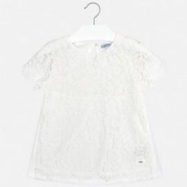 Mayoral 6102-32 Bluzka dziewczęca koronka kolor krem