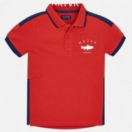 Mayoral 6132-25 Koszulka polo chłopięca kolor czerwony