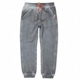 Boboli 416135-8097 spodnie dziewczęce dresowe kolor popiel