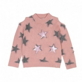 Boboli 416056-3595 sweter dla dziewczynki kolor róż