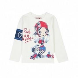 Boboli 406066-1111 koszulka dla dziewczynki kolor krem