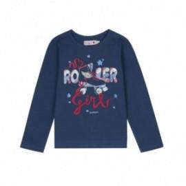 Boboli 406101-2416 koszulka dla dziewczynki kolor granat