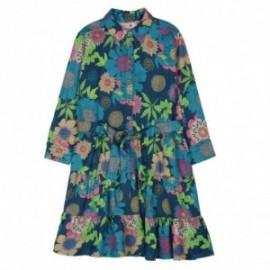 Boboli 436003-9868 sukienka dla dziewczynki kolor granat