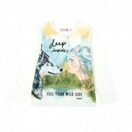 Boboli 436036-1111 koszulka dla dziewczynki kolor krem
