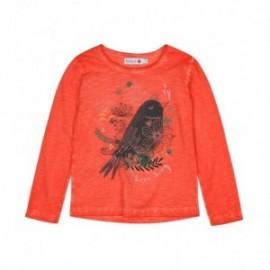 Boboli 446004-5070 bluzka dla dziewczynki kolor pelargonia