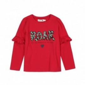 Boboli 466051-3593 koszulka dla dziewczynki kolor truskawka