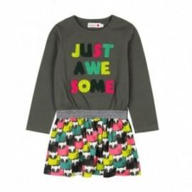 Boboli 476007-8076 sukienka dla dziewczynki kolor popiel