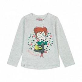 Boboli 476074-8095 koszulka dla dziewczynki kolor szary