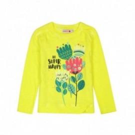 Boboli 476018-1117 bluzka dla dziewczynki kolor żółty