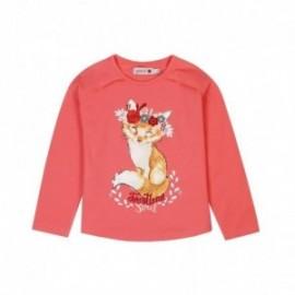 Boboli 426080-3592 koszulka dla dziewczynki kolor papryka