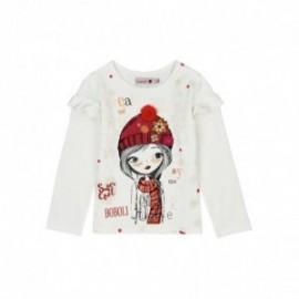 Boboli 426057-1111 bluzka dla dziewczynki kolor krem