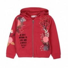 Boboli 426181-7332 bluza dla dziewczynki kolor dachówka