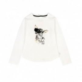 Boboli 726432-1111 koszulka dla dziewczynki kolor krem