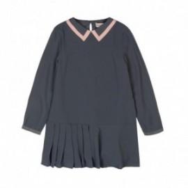 Boboli 726566-8097 sukienka dla dziewczynki kolor popiół