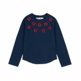 Boboli 726106-2416 koszulka dla dziewczynki kolor granat