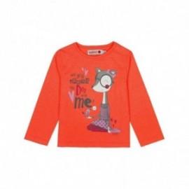 Boboli 206086-5071 koszulka dla dziewczynki kolor ofluor