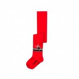 Boboli 216032-3548 rajstopy dla dziewczynki kolor czerwony