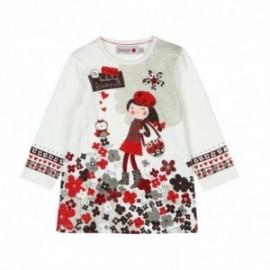 Boboli 216111-1111 sukienka dla dziewczynki kolor krem