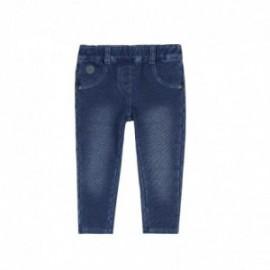 Boboli 296029-BLUE Spodnie dla dziewczynki kolor niebieski