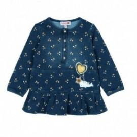 Boboli 226033-9891 sukienka dla dziewczynki kolor granat