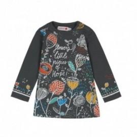 Boboli 246125-8076 sukienka dla dziewczynki kolor popiel