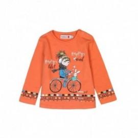 Boboli 246079-5067 koszulka dla dziewczynki kolor pomarańcz