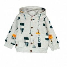 Boboli 326124-9916 bluza dla chłopca kolor szary