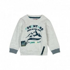 Boboli 336068-7299 Bluza dla chłopca kolor szary