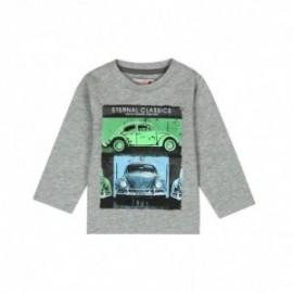 Boboli 306087-8034 koszulka dla małego chłopca kolor szary