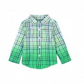 Boboli 306133-9918 Koszula krata dla małego chłopca kolor zielony