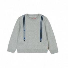 Boboli 716239-8094 Sweter dla małego chłopca kolor perła