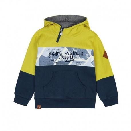 Boboli 506168-4433 Bluza z kapturem dla chłopca kolor granat