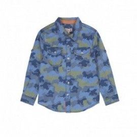 Boboli 506146-9921 Koszula moro dla chłopca kolor granat