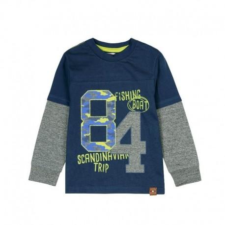 Boboli 506078-2416 koszulka dla chłopca kolor granat
