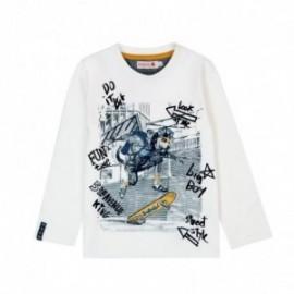 Boboli 526025-1111 bluzka dla chłopca kolor krem