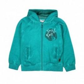 Boboli 516125-4432 bluza dla chłopca kolor cyprys
