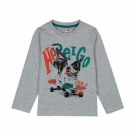 Boboli 516046-8034 koszulka dla chłopca kolor szary