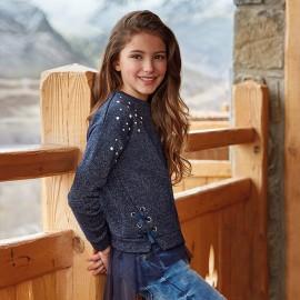 Mayoral 7444-55 Bluza dziewczęca kolor granat