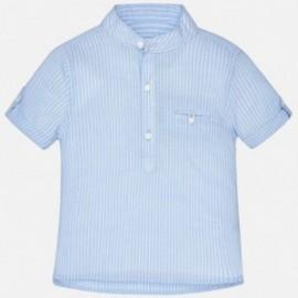 Mayoral 1156-40 Koszula chłopięca na stójce kolor błękit