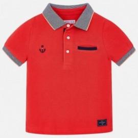 Mayoral 3132-10 Koszulka polo chłopięca kolor czerwony