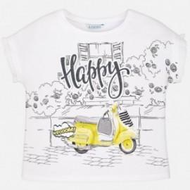Mayoral 6034-83 Koszulka dziewczęca kolor krem/żółty