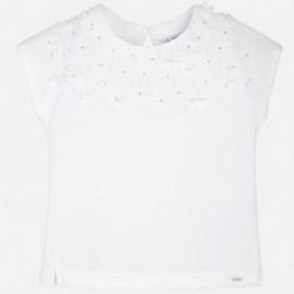 Mayoral 6040-53 Koszulka dziewczęca kolor biały