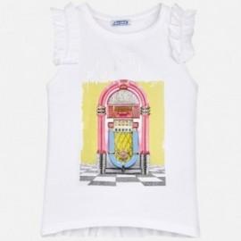 Mayoral 6076-65 Koszulka dziewczęca kolor biały
