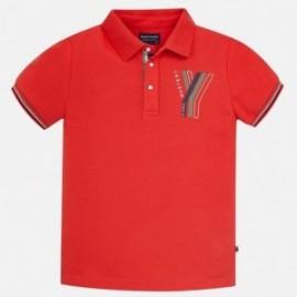 Mayoral 6122-48 Koszulka polo chłopięca kolor czerwony